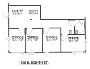 1305-E-8TH-Suite-C Floor Plan. Commercial Office for Lease in Traverse City, Michigan. Noland Building & Development.