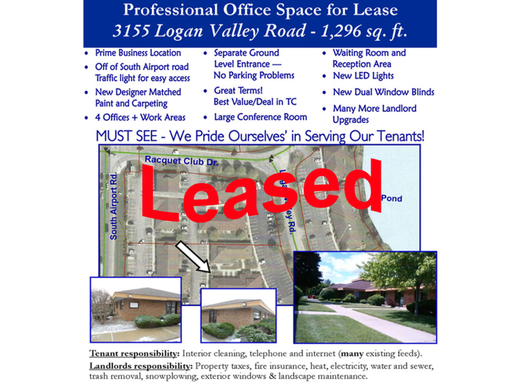 Commercial Office for Lease in Traverse City, Michigan | 3155 Logan Valley Road TC Office Lease
