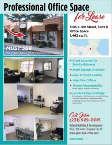 Traverse City, Michigan Office for Lease